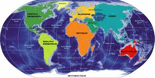 Continent Of Asia Map by Big Map Of Continents Of The World Nations Online Project