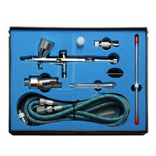 9cc dual action 3 airbrush air compressor kit craft cake paint art