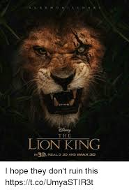 Lion King Meme - the lion king in35 real d ap and imax 3d i hope they don t ruin