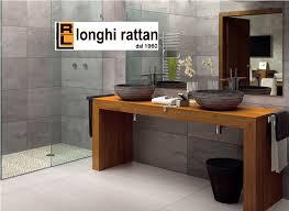 mobile bagno grezzo mensola porta lavabi legno jpg