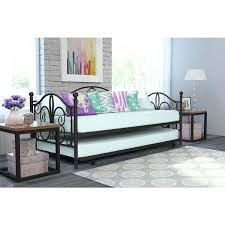 Iron Daybed With Trundle Firenze White Metal Crystal Daybed With Trundle Metal Day Bed With