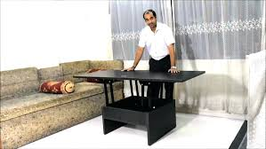 Expandable Coffee Table Dining Table Converts To Coffee Table Daprafazer Co