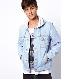 light blue jacket mens asos denim jacket with hood where to buy how to wear