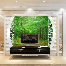 high quality customize size modern green scenery mural 3d