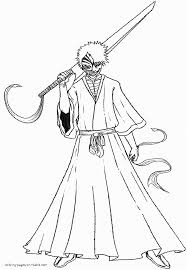 bleach coloring pages jacb me