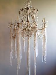 How To Make A Mini Chandelier Best 25 Shabby Chic Chandelier Ideas On Pinterest Shabby Chic