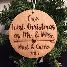 etsy item of the day our first christmas as mr mrs laser
