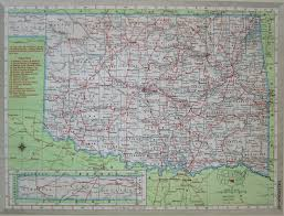 Ohio Railroad Map by Vintage 1950 Oklahoma Railroad Map 8x11 1950s Ok Railway Map