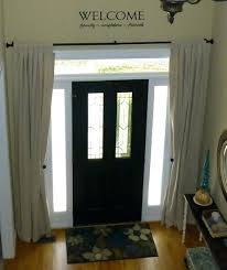 front door window treatment ideas panels choice fabrics colors