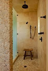 White Pebble Tiles Bathroom - pebble floor tile