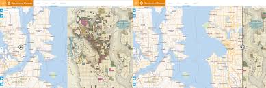 Seattle International Airport Map by Website Allows Users To Compare Old Maps With Current Ones