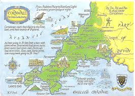 Counties Of England Map by Cornwall In South West England Offers A Host Of Wonderful Tourist
