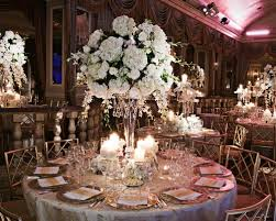Crystal Vases For Centerpieces Glamorous All White Fall Wedding In New York City Inside Weddings