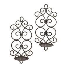 Candle Wall Sconces Wrought Iron Collection Wrought Iron Candle Wall Sconces Pictures Jefney