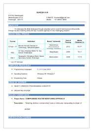 Core Java Resume Suresh Resume