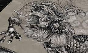 dragon sketch kimberart
