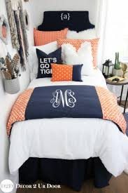 Tiger Comforter Set Blue Dorm Room Bedding