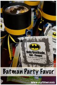a batman birthday party for kids and my batman party favors