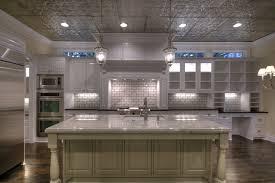 fake tin backsplash cratem com how to install tin ceiling tiles the home redesign