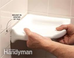 how to install a corner shower shelf family handyman