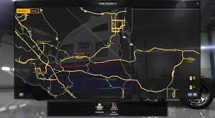 Truck Route Maps Coast To Coast Map V1 6 For Ats American Truck Simulator Mod