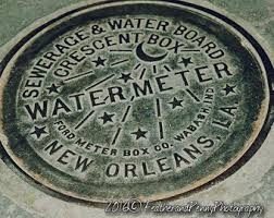 water meter new orleans new orleans print new orleans decor nola gift