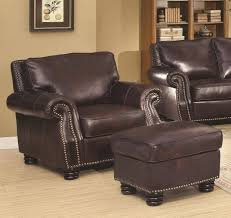 exterior astounding dark brown leather coaster brisco chair and astounding dark brown leather coaster brisco chair and ottoman set by smith brothers standing on wood flooring for library room furniture ideas