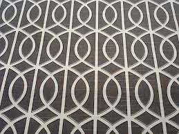 Upholstery Drapery Fabric Dwell Studio Grey Smoke White Lattice Gate Modern Cotton Fabric