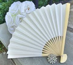 paper fans for weddings ivory wedding paper fans for wedding pictures ivory