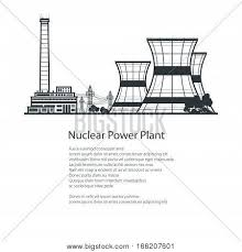 silhouette thermal power station vector u0026 photo bigstock