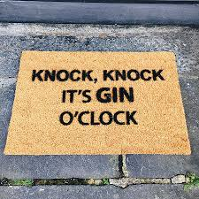 come in if you have prosecco doormat my shining armour