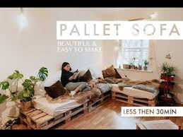 canap fait avec des palettes vidéo tutoriel d un canapé fait avec des palettes
