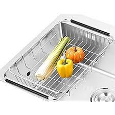 Kitchen Sink Dish Rack Sanno Dish Rack Sink Adjustable Arms Holder