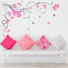 31 large flower wall decals large flower swirl wall decal large butterfly vine flower wall stickers wall decals 3 1510 3