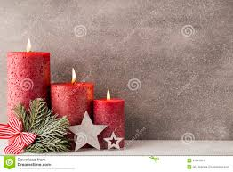 christmas candles and lights christmas background stock photo