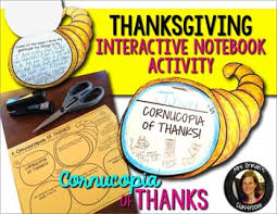 thanksgiving interactive notebook activities thanksgiving