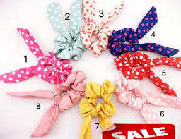 japanese hair accessories online cheap fashion women girl sweet rabbit ear hair bands tie