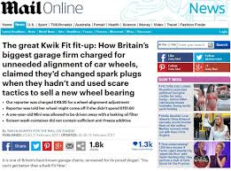 Hit The Floor Online - kwik fit loses complaint over mail on sunday u0027fit up