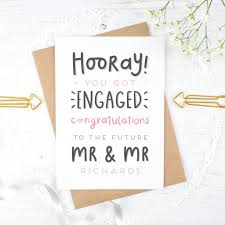 congrats engagement card personalised mr and mr engagement card by joanne hawker