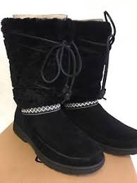 s ugg australia black boots ugg australia s maxie black suede boots fur tasman mid calf