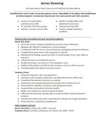 Transportation Resume Examples by Cdl Resume Resume Cv Cover Letter