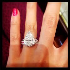 what to do with wedding ring pear engagement ring and mismatched sapphire wedding band uh