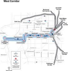 Denver Rtd Map West Corridor Progress U2013 Denverinfill Blog