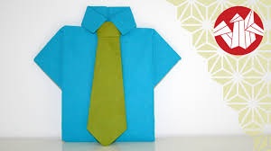 Pliage De Serviette En Tissu Simple by Tuto Origami Tutorial Shirt And Tie Napkin Senbazuru Youtube