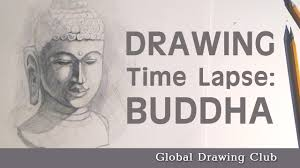 how to draw a buddha statue youtube