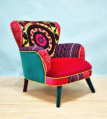 canapé style vintage ikat 2 seater sofa armchairs upholstered furniture and bright decor