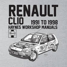 haynes owners workshop manual renault clio black men u0026 039 s t shirt
