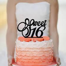 sweet 16 cake topper sweet 16 cake topper acrylic cake topper 2462896 weddbook
