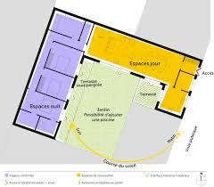 plan maison en u ouvert plan maison 130 m en u ooreka