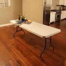 lifetime almond 8 ft folding table 22984 the home depot
